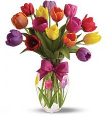Spring Tulips Deluxe - 123 Vase arrangement