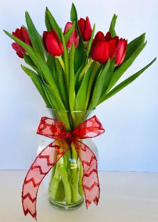 Hearts & Tulips Floral Arrangement