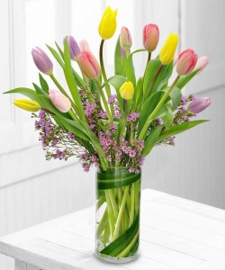 SPRING TULIPS Flower Arrangement in Los Angeles, CA | MY BELLA FLOWER