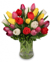 Spring tulips Vase Arrangement