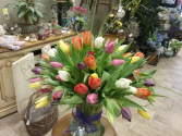 Spring tulips Vase arrangement