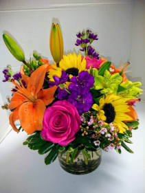 Spring Vibrance Vase arrangement