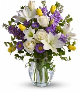 Spring Waltz Flowers Vase Arrangement
