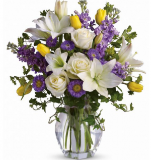 Spring Waltz Vase Arrangement in Selma, NC | SELMA FLOWER SHOP