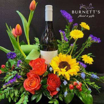 Spring Wine Time Arrangement