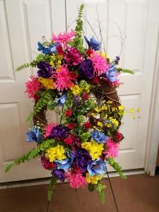 Spring  Wreath Arrangement  Silk Wreath