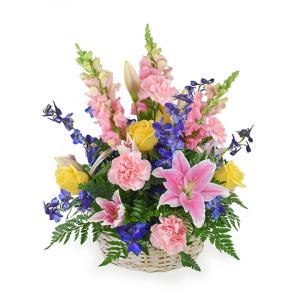 Spring's Bounty Sympathy Basket in Bowman, SC | Seven Flowers Florist