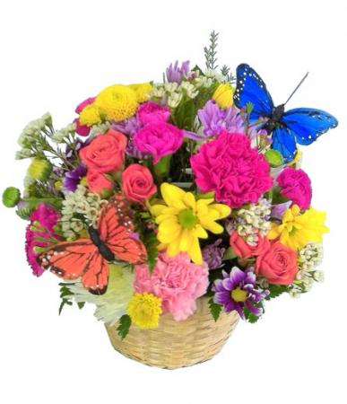 Spring's Delight Arrangement in basket