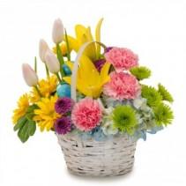 Springtime Basket Arrangement
