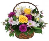 Springtime basket blooms  Basket
