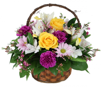 Springtime basket blooms  Basket