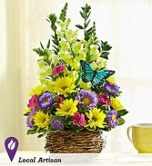 Springtime Birds Nest Arrangement Fresh Flowers