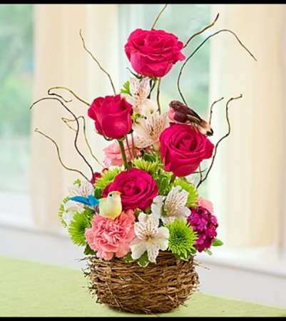 Springtime Bird's Nest of Flowers™ '18 Arrangement