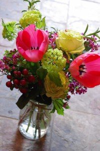 Springtime Blooms Mason Jar Arrangement