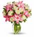 Wrapped Vase Bouquet Dozen Roses Rose