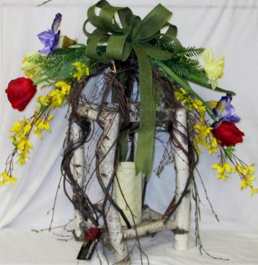 Springtime Lantern Permanent Arrangement by Inspirations Floral Studio