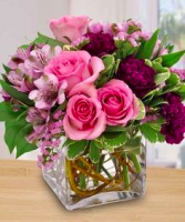 Springtime Love Square Vase arrangement