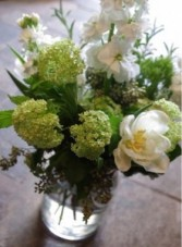 Springtime Monochromatic  Mason Jar Arrangement