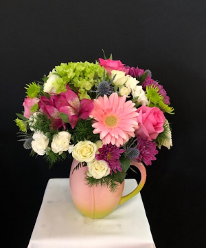 Springtime  Pitcher in Chesterfield, MO | ZENGEL FLOWERS AND GIFTS
