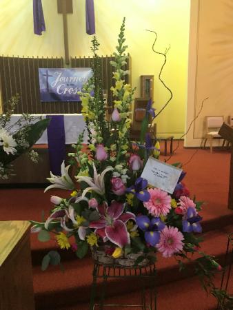 Springtime Salute Flower Basket