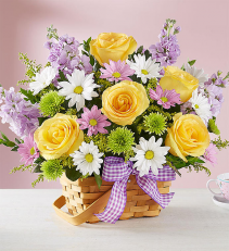 Springtime Wishes Basket Arrangement