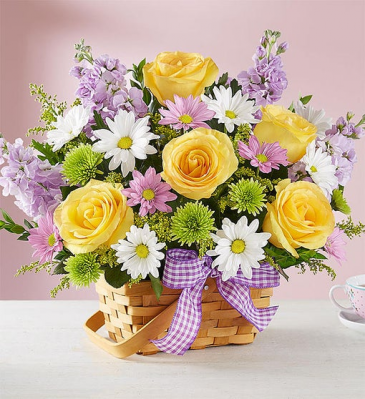 Springtime Wishes One-side Floral Arrangement