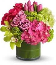 Springy pink and green Fresh Flowers