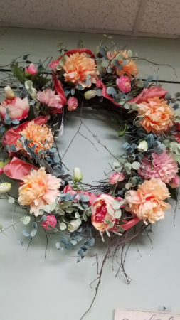 Springy Silk Wreath
