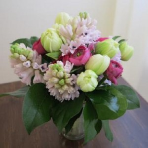 Springy Tulips and Hyacinths Vase Vased Arrangement, Compact