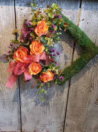 Square moss wreath Permanent floral