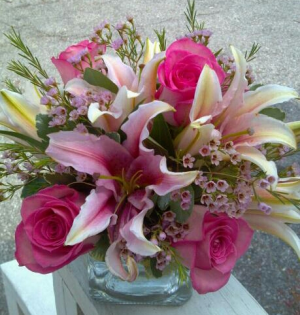 Square Delight Fresh Vase Arrangement in Phenix City, AL | BUDS & BLOOMS FLORIST