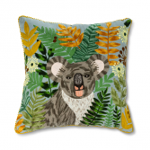 Square Koala and Blooms Pillow