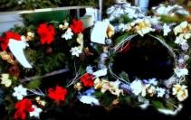 Square Mausoleum Wreath For George Washington Cemetery