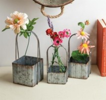 Square Metal Planter Baskets