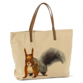 Squirrel Tote cotton and leather