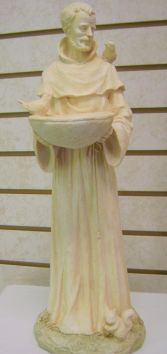 St. Francis Statue Bird Feeder Funeral Flowers