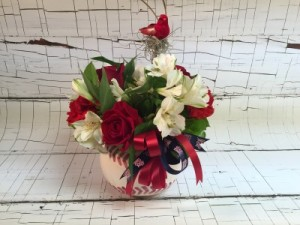 St. Louis Cardinals Baseball Lovers Bouquet A perfect gift for that Cardinals fan! in Saint Louis, MO | Irene's Floral Design