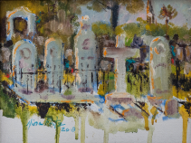 St. Michael's Cemetery Original Oil by Nina Fritz