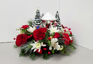 St. Nicholas Circle Fresh Arrangement in Fulton, NY | DeVine Designs By Gail