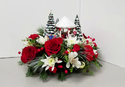 St. Nicholas Circle Fresh Arrangement