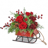 St. Nick's Keepsake Sleigh Flower Arrangement