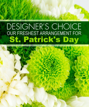 St. Patrick's Day Designers Choice Arrangement in Croton On Hudson, NY | Cooke's Little Shoppe Of Flowers