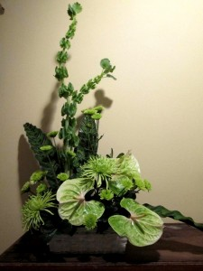Tropical Green Inspirations original design in Lock Haven, PA | INSPIRATIONS FLORAL STUDIO