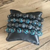 Stackable Beaded Bracelets Set of 4
