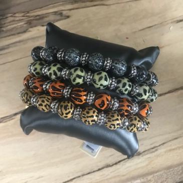 Stackable Beaded Bracelets Set of 4