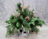 Stagg-ing Around Wintergreens Arrangement