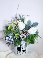 Stagging Around Wintergreen Arrangement