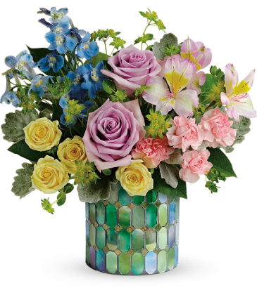 Stained Glass Blooms All-Around Floral Arrangement