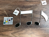 Stained glass handmade Music teacher gift