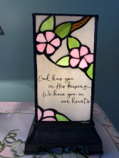 Stained Glass Memorial Lamp